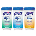 Purell Hand Sanitizing Wipes, 5.7 x 7 1/2, Assorted, 40/Canister, 18/Carton
