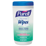 Purell Hand Sanitizing Wipes, 5.7 x 7 1/2, Fragrance Free, 40/Canister, 6/Carton
