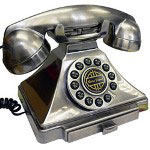 Golden Eagle Classic Brittany Desk Phone, Chrome