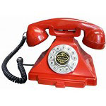 Golden Eagle Classic Brittany Desk Phone, Red