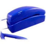 Golden Eagle Trimstyle Corded Telephone, Blue