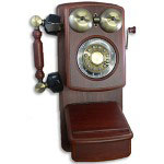 Golden Eagle Country Wood Phone, Mahogany