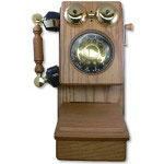 Golden Eagle Country Wood Phone, Oak