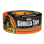 "Gorilla Glue Black Extra-Thick All-Weather Gorilla Tape Duct Tape with 3"" Core, 1 7/8"" x 12 Yards"