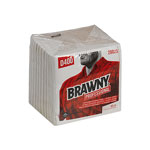 Brawny Professional Medium Duty DRC Wipers, Quarterfold, 12 1/2 x 13, White, 65/PK