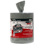 Brawny Heavy Duty Cleaning Wipes, Gray, 2 Rolls of 140