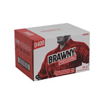 Brawny Professional D400 Disposable Cleaning Towel, Convenience Case, 12-1/2 x 16-3/4, White, 152/BX