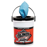 "Brawny Industrial® Wet Hand Towels, 12 1/5"" x 8 3/5"", 1-Ply, Blue, 84/Pail"