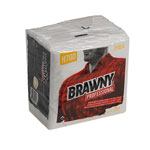 Brawny Professional H700 Disposable Cleaning Towel, 1/4-Fold, White