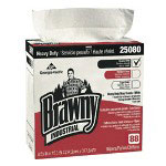 Brawny Shop Rags, White, 10 Packs of 88