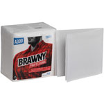 Brawny Professional A300 Disposable Cleaning Towel, 1/4-Fold, White