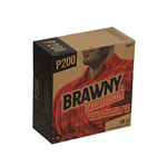 Brawny Industrial Light Duty Three-Ply Paper Wipers, 9-1/4x16-3/4, Brown, 80/Box