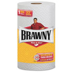 Brawny Pick-A-Size Perforated Roll Towel, 2-Ply, 11 x 5 2/5, White, 104/Roll, 24/Crton