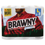 "Brawny Pick-A-Size Perforated Roll Towel, 2-Ply, 11"" x 47 ft, White, 564/Roll, 6/Pack"