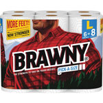 Brawny Pick-A-Size Perforated Roll Towel, 2-Ply, 87 Sheets/Roll, 6 Rolls/Pk, 4 Pks/Ct