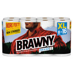 Brawny Pick-A-Size Perforated Roll Towel, 2-Ply, 130 Sheets/Roll, 8 Rolls/PK