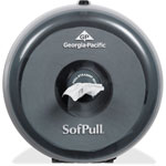 Sofpull Mini Coreless Centerpull Bath Tissue Dispenser, 8 3/4w x 7d x 9h, Smoke