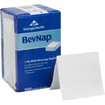 "Acclaim Dinner/Beverage Napkins, 1-Ply, 9-1/2"" x 9-1/2"", 500/PK, White"