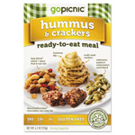 Gopicnic Ready-To-Eat-Meals, Hummus + Crackers, 4.4 oz, 6 per Carton