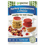 Gopicnic Ready-To-Eat-Meals, Turkey Pepperoni + Cheese, 3 oz, 6 per Carton