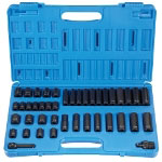 "Grey Pneumatic 42 Piece 3/8"" Drive 12 Point Standard and Deep Master Impact Socket Set"