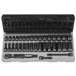 "Grey Pneumatic 35 Piece 3/8"" Drive Standard and Deep Metric 12 Point Duo-SocketSet"