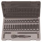 "Grey Pneumatic 23 Piece 1/4"" Drive Standard and Deep Fractional 12 Point Duo-SocketSet"