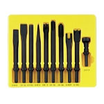 Grey Pneumatic 10 Piece General Service Impact Chisel Set