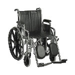 "Guardian Easy-Care Wheelchair, 18"", Desks Arms, Elevating Ft"