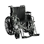 "Guardian Easy-Care Wheelchair, 18"", Desk Arms, Swing-Away Ft"