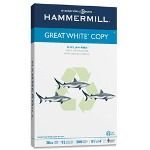 "Great White MultiUse Paper, 20Lb, 84 Bright, 8 1/2""x14"", 500/Pack, White"