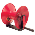 Michigan Industrial Manual Air Hose Reel Only, Hand Crank, Red Metal Open Construction, Will Accommodate 50' of Air Hose