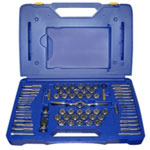 Hanson 75 Piece Tap+Die Combo Set W/Pts Handle