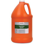 Handy Art Termpera Paint, 1gal, Orange