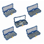 Hanson 76 Piece Full Coverage SAE and Metric Plug Tap and Die Drive Set