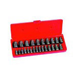 Hanson 25 Piece Hex Head Multi Spline Extractor Set