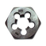 "Hanson High Carbon Steel Hexagon 1"" Across Flat Die 7mm to 1.00"