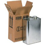 Box Partners Hazardous Materials Shipping Boxes, Holds 1 One Gallon F-Style Can