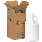 Box Partners Hazardous Materials Shipping Boxes, Holds 1 One Gallon Plastic Jug