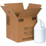 Box Partners Hazardous Materials Shipping Boxes, Holds 4 One Gallon Plastic Jugs