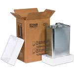 Box Partners Hazardous Materials F-Style Can Foam Shipper Kits, Holds 1 One Gallon F-Style Can