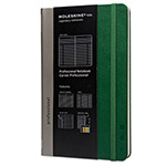 Moleskine Professional Notebook, Plain, 8 1/4 x 5, Oxide Green Cover, 240 Sheets