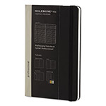 Moleskine Professional Notebook, 5 x 8 1/4, Black Cover, 240 Sheets