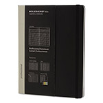 Moleskine Professional Notebook, 7 1/2 x 9 3/4, Black Cover, 192 Sheets