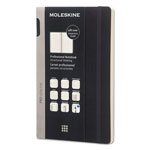 Moleskine Professional Notebook, Ruled, 8 1/4 x 5, Black Cover, 192 Sheets