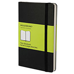Moleskine Hard Cover Notebook, Plain, 5 1/2 x 3 1/2, Black Cover, 192 Sheets