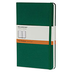 Moleskine Hard Cover Notebook, Ruled, 8 1/4 x 5, Oxide Green Cover, 240 Sheets