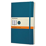 Moleskine Classic Softcover Notebook, Ruled, 8 1/4 x 5, Underwater Blue Cover, 192 Sheets