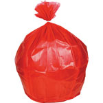 "Heritage Bag Biohazard Can Liners, .8mil, 30"" x 36"", 250BG/BX, Red"