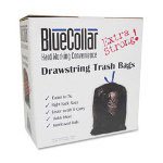 Heritage Bag Black Drawstring Trash Bags, 30 Gallon, 1 Mil, Box of 40